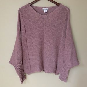 Shrinking Violet cocoon dolman sleeve sweater | S
